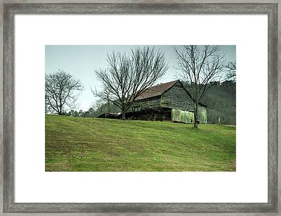Cantilever Barn Sevier County Tennessee Framed Print