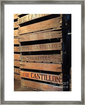 Cantillon Crates Framed Print by Evan N
