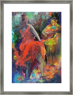 Cantina Serenade Framed Print by Keith Thue