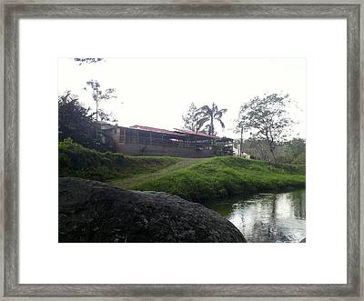 Cantine By The River Framed Print