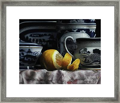 Canton/lemon/silk Framed Print by Larry Preston