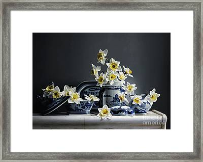 Canton With Daffodils Framed Print by Larry Preston