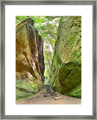 Cantwell Cliffs Trail Hocking Hills Ohio Framed Print