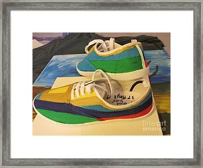 Canvas Shoe Art 003 Framed Print