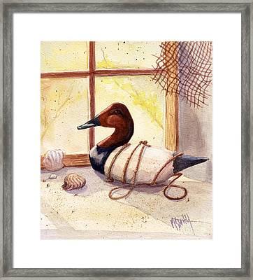 Canvasback Decoy Framed Print by Marilyn Smith