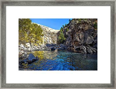 Canyon Bend - Digital Texturing Framed Print
