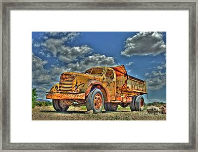 Canyon Concrete 3 Framed Print