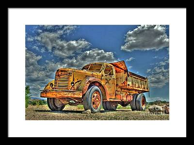 Dump Truck Photographs Framed Prints