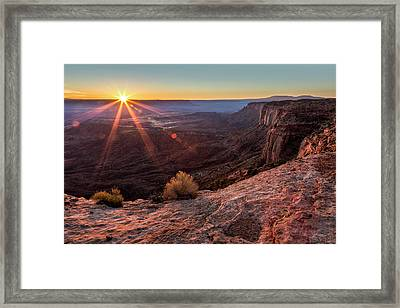 Canyon Country Sunrise Framed Print