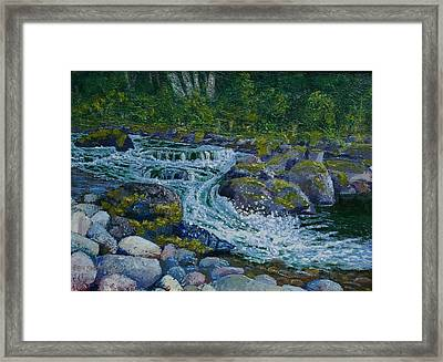 Canyon Creek Cadence Framed Print by Ron Smothers