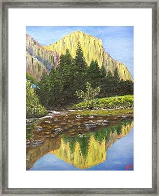 Canyon Creek Framed Print by Charles Vaughn