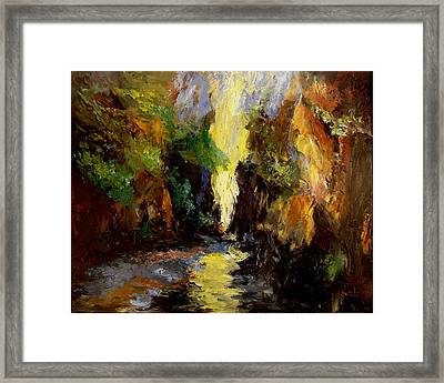 Canyon Creek Framed Print by Gail Kirtz