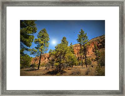 Canyon Crossing Framed Print by Diana Angstadt