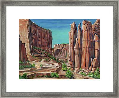 Canyon De Chelly Ar Framed Print by George Chacon