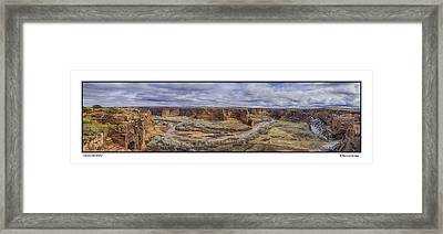 Framed Print featuring the photograph Canyon De Chelly by R Thomas Berner