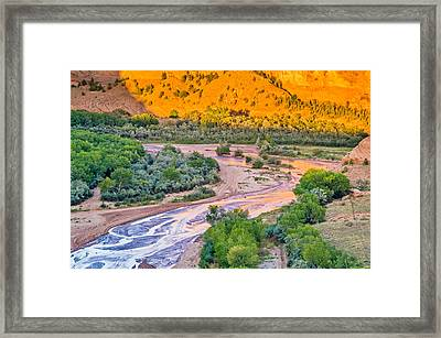 Tsegi Sunset - Canyon De Chelly National Monument Photograph Framed Print