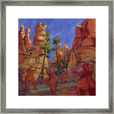 Canyon Echoes Framed Print by Jane Thorpe