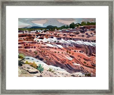 Canyon Edge Framed Print by Donald Maier