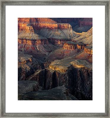 Framed Print featuring the photograph Canyon Enchantment by Carl Amoth