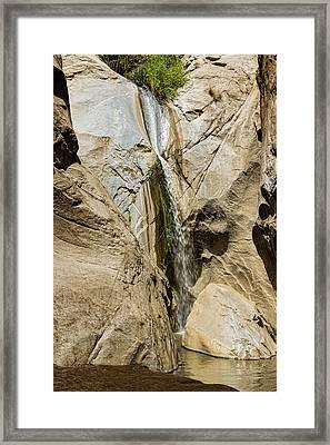 Canyon Falls Framed Print by Kelley King