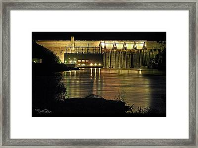 Canyon Ferry Dam At Night Framed Print by David Salter