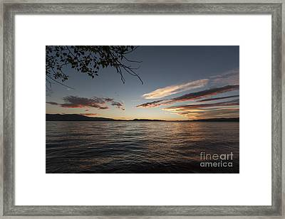 Colors Of The Lake Framed Print by Carolyn Brown