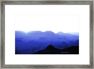 Canyon In Blue Framed Print