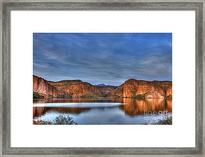 Canyon Lake Reflections Framed Print