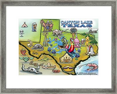 Canyon Lake Texas Framed Print by Kevin Middleton