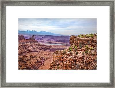 Canyon Landscape Framed Print