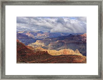 Framed Print featuring the photograph Canyon Layers by Beverly Parks