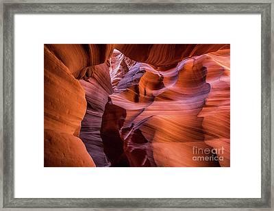 Canyon Layers - The Amazing Antelope Slot Canyons In Arizona, Usa. Framed Print