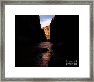 Canyon Light Framed Print by Rex Wholster