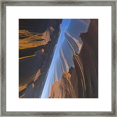 Framed Print featuring the digital art Canyon by Lyle Hatch