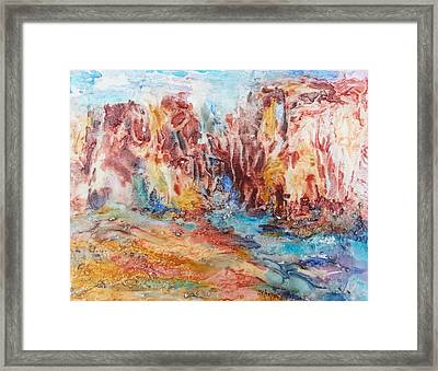 Canyon Mouth Framed Print by Becky Chappell