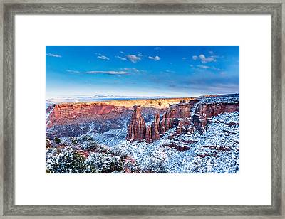 Canyon Of Colors Framed Print