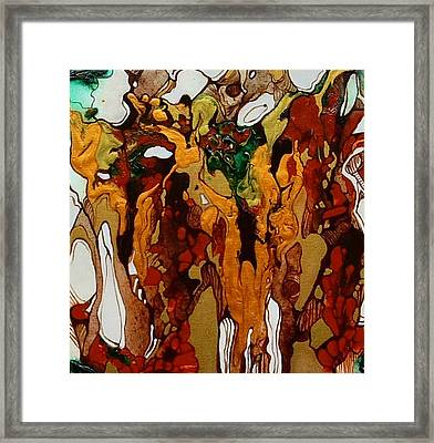 Canyon Of Gold Framed Print