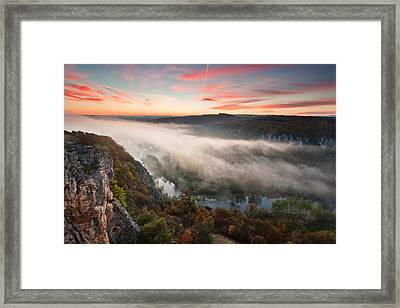 Canyon Of Mists Framed Print by Evgeni Dinev
