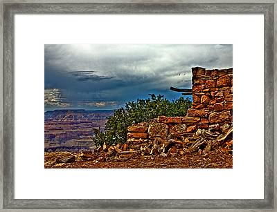 Canyon Outlook Framed Print by William Wetmore