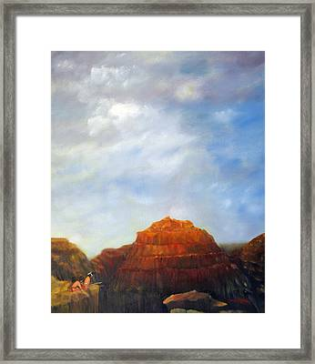 Canyon Overlook Framed Print