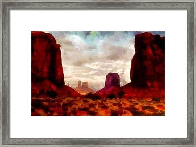 Canyon Panorama Framed Print by Mario Carini