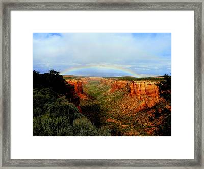 Canyon Rainbow Framed Print by Ellen  Leigh