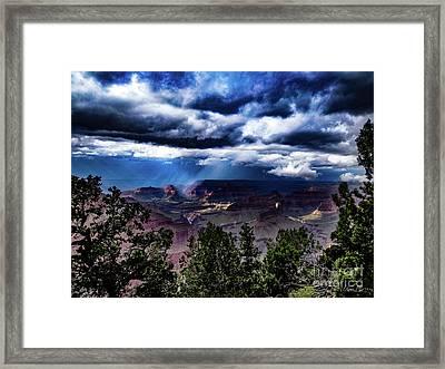 Canyon Rains Framed Print