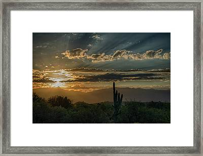 Framed Print featuring the photograph Canyon Ranch Dawn by Dan McManus