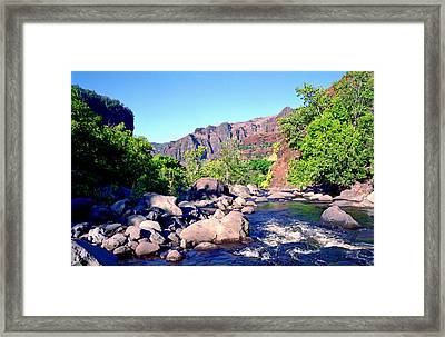 Canyon River  Framed Print by Kevin Smith