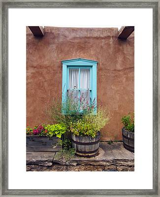 Canyon Road Blue Santa Fe Framed Print by Kurt Van Wagner