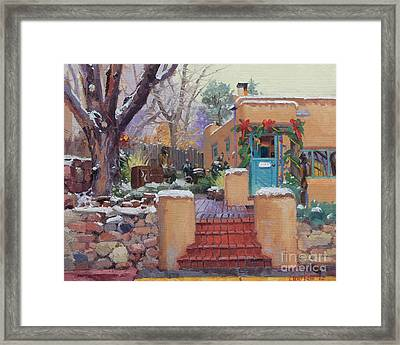 Canyon Road Christmas Framed Print by Gary Kim