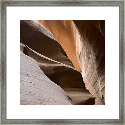 Canyon Sandstone Abstract Framed Print