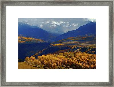 Framed Print featuring the photograph Canyon Shadows And Light From Last Dollar Road In Colorado During Autumn by Jetson Nguyen