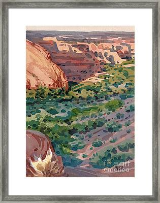 Canyon Shadows Framed Print by Donald Maier
